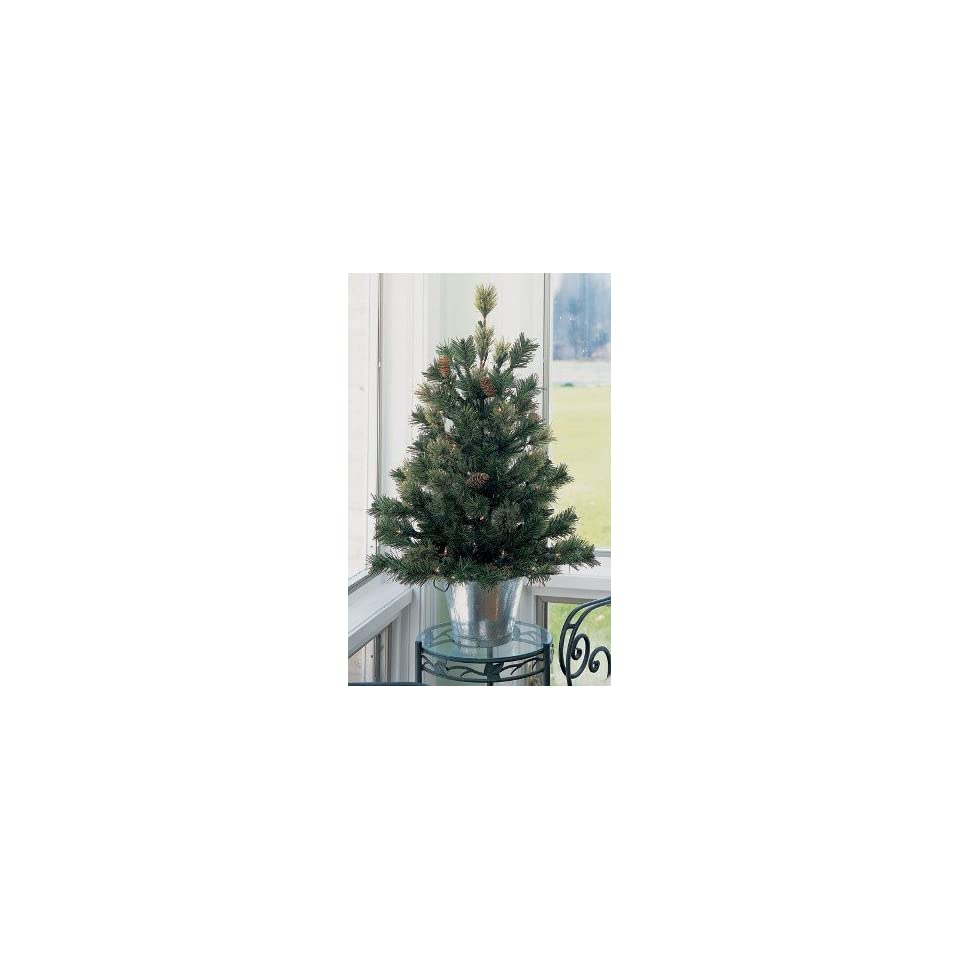 Pack of 6 Cashmere Pine Pre Lit Potted Artificial Christmas Trees 2.5 #H89082