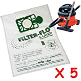 5 x Numatic Henry Hetty James FILTER FLO Vacuum Cleaner Hoover Bags