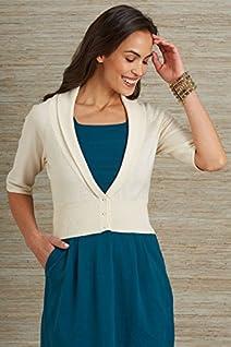 Fair Indigo Organic Fair Trade Cropped Cardigan Sweater