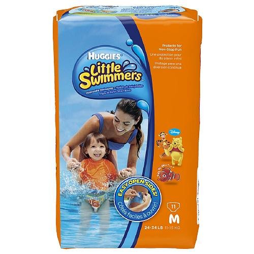 Huggies Disposable Swimpants, Unisex, Medium, 24-34 Lbs, 11 Ea 1 Ea (Pack Of 2)