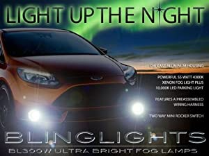 2012 2013 2014 Ford Focus Xenon Fog Lamps Driving Lights Kit