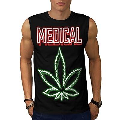 Medical Cannabis Hash Smoke Weed Men NEW Black S-2XL Sleeveless T-shirt | Wellcoda