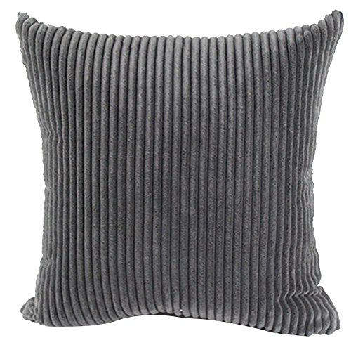 Square/Rectangle Solid Cnady Color Printed Cushion Cover ChezMax Corduroy Striped Throw Pillow Case Sham Slipover Pillowslip Pillowcase For Teen Boy Girl Kid Children Bedroom