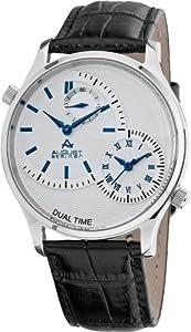 August Steiner Men's ASA810BU Stainless Steel Dual Time Watch