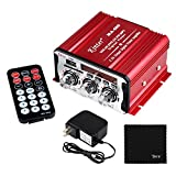 Kinter MA-600 2-Channel Output Digital Power Mini Amplifier AMP with Remote Control + 3A Power Supply + Tera Cloth for FM USB SD CD DVD MP3 Players