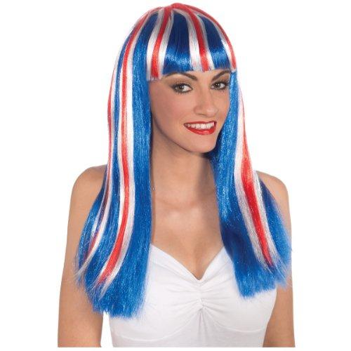 Long Patriotic Wig