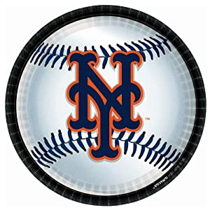 New York Mets Baseball - Round Dinner Plates Party Accessory