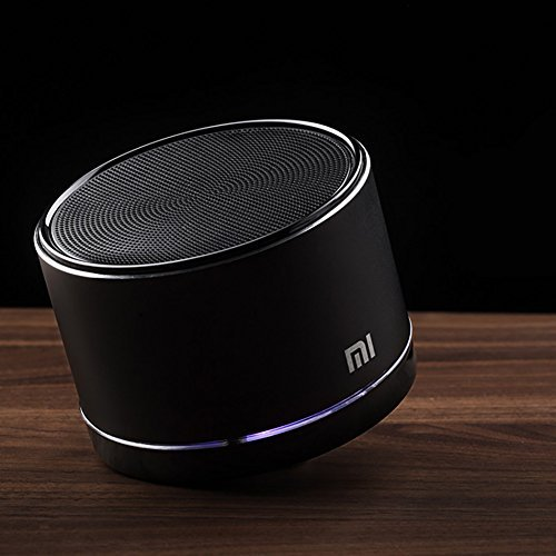 Mi Wireless Portable Bluetooth Speaker with Built-in Microphone, 12 Hours Play-time, Works for iPhone, iPad Mini, iPad 4/3/2, iTouch, Blackberry, Nexus, Samsung and other Smart Phones and Mp3 Players (Black)