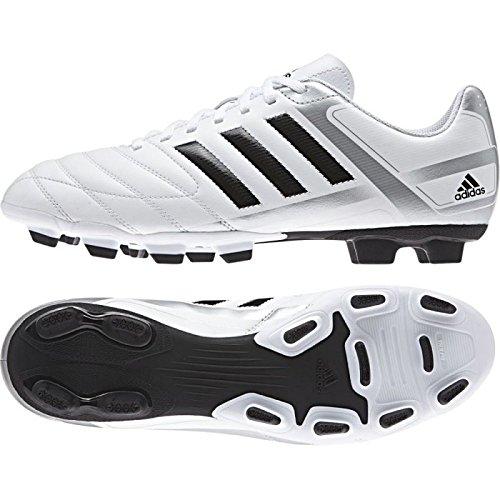 ADIDAS M29532 PUNTERO IX FG FOOTBALL BOOTS WHITE-BLACK-SILVER 45 1/3