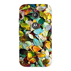 Gorgeous Beautiful Colorfull Leafs Back Case Cover for Moto E 2nd Gen