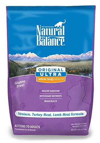 Natural Balance Original Ultra Whole Body Health Venison, Turkey Meal, Lamb Meal Dry Cat Formula