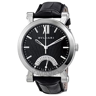 Bvlgari Sotirio Automatic Retrograde Date Mens Watch SB42BSLDR