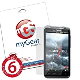 myGear Products Clear LifeGuard Screen Protectors for HTC ThunderBolt (6 Pack) ~ myGear Products