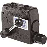 "Prince RDRS-175-30 Flow Control Valve, Adjustable Pressure Relief, Cast Iron, 3000 psi, 0-30 gpm, 3/4"" NPTF"