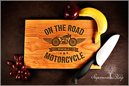 on-the-road-motorcycle-personalised-wooden-chopping-cutting-board-engraved-wedding