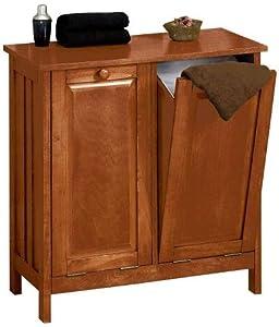 mission style tilt out laundry hamper wastebin 26 w light cherry. Black Bedroom Furniture Sets. Home Design Ideas