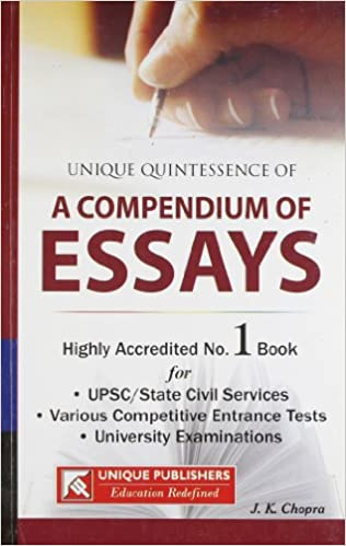 Write down the various parts of writing an essay