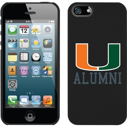 Great Sale University of Miami Alumni design on a Black iPhone 5s / 5 Thinshield Snap-On Case by Coveroo