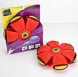 HOME CUBE TM Flying UFO Flat Ball P3 DISC light Throw a Disc Ball Fancy Soft Kids Outdoor Toys Children Magic sport Phlat Ball (Random Colors)