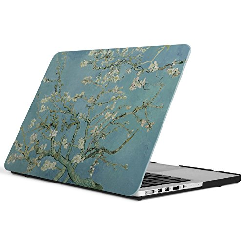iCasso New Art Fashion Image Series Ultra Slim Light Weight Rubberized Hard Case Glossy Clear Crystal Snap-On Hard Cover Case for MacBook Pro 15 inch Retina (Model: A1398) - Wintersweet (Macbook Pro 15 Inch Cover compare prices)
