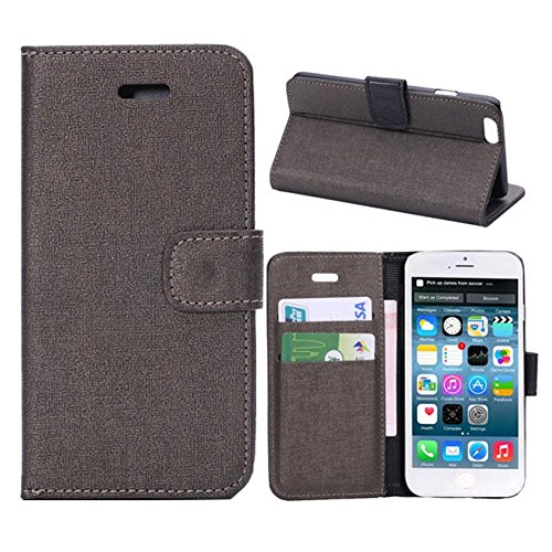 Iphone 6 Phone Case Borch Fashion Multi-Function Wallet For Iphone 6 Case Luxury Pu Leather Carrying Case Cover With Credit Id Card Slots/ Money Pockets Flip Leather Case For Iphone 6 5.5 Inch Borch Screen Protector (Gray)