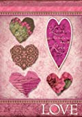 Love Hearts Valentines Day Garden Flag