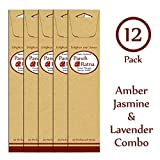 Panchratan Perfumed Charcoal Incense Sticks ( Pack Of 12, 23cms, Amber, Jasmine And Lavender Fragrance )