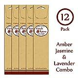 Panchratan Perfumed Charcoal Incense Sticks ( Pack Of 12, 23cms, Amber, Jasmine And Lavender Fragrance )