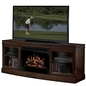 Dimplex Wickford Electric Fireplace Media Console In Walnut Home Kitchen