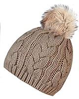 caripe Mütze Bommel Pompon Fellbommel - viele Farben und Modelle - zupa