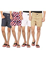 Joven Assorted Printed Cotton Boxer Pack Of 4 - B01EY0ZJWU