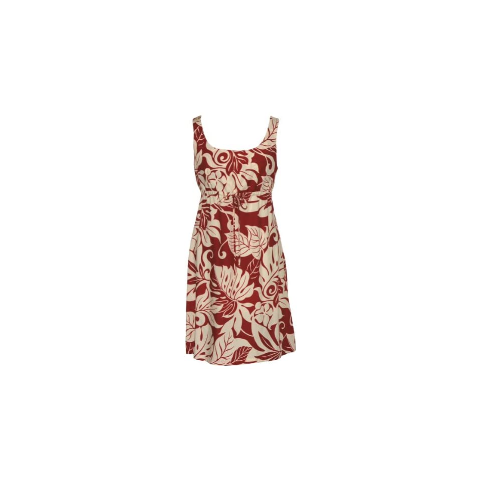 f4c6292f4f4 RJC Womens Hibiscus Orchid Fern Empire Tie Front Short Tank Dress on ...