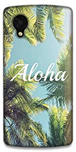 The Racoon Lean printed designer hard back mobile phone case cover for LG Nexus 5. (aloha)