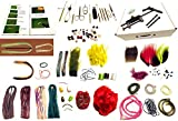 SALTWATER Fly Tying Kit, Book, Tools and materials - 100 Items by Appalachian.