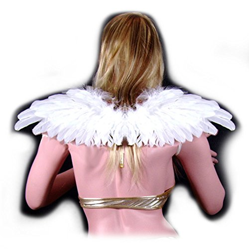 SACAS Beautiful White Feather Angel Wings with Free Halo