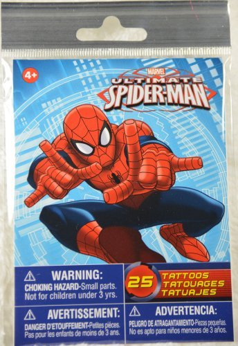 Ultimate Spider-man Tattoos (25 Piece) - 1