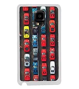 Cars 2D Hard Polycarbonate Designer Back Case Cover for Samsung Galaxy Note 4 :: Samsung Galaxy Note 4 N910G :: Samsung Galaxy Note 4 N910F N910K/N910L/N910S N910C N910FD N910FQ N910H N910G N910U N910W8