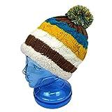子供用 ニットキャップ キッズ ジュニア 男の子 女の子 スキー用 ニット帽子 fo-ncap1500ブラウン