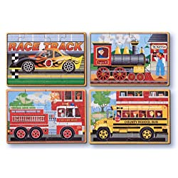 [Best price] Puzzles - Melissa & Doug Deluxe Vehicles in a Box Jigsaw Puzzles - toys-games