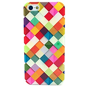 Let it be Free Colorful Square Rhombus Clear Edge TPU Soft Case Rubber Silicone Skin Cover for iphone 6 4.7 Inch (Not for iphone6 Plus) from Let it be Free
