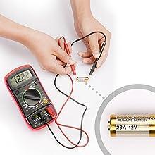 Etekcity Digital Multimeter (DMM) Multi Tester Voltmeter Ammeter Ohmmeter - AC / DC Voltage, DC Current, Resistance, Continuity, Diodes, hFE Tester with Backlit LCD (2Pack)