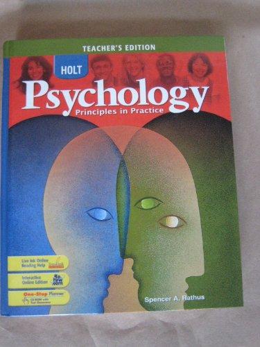 Holt Psychology - Teacher's Edition: Principles in Practice