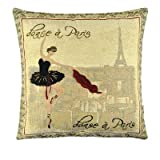 Nava New Vintage Paris Ballerina Queen Art Decorative Pillow Case Cushion Cover Shams