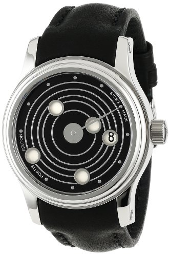 Fortis Men's 677.20.31 L.01 B-47 Mysterious Planets Swiss Automatic Black Dial Leather Exhibition Diving Watch