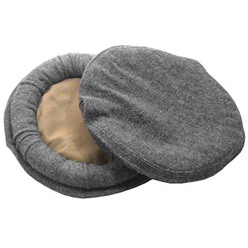 Afghan Pakul Chitrali 100% Wool Cap Pakol Peshawari Handmade Fine Quality  Hat (Grey) d7c6a6b1491