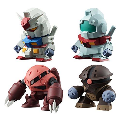 """Bandai Shokugan Build Model Gundam """"Mobile Suit Gundam"""" Action Figure (Pack of 10)"""