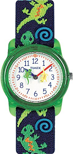 """Timex Kids' T72881 """"Lizards"""" Watch With Multi-Colored Fabric Band front-837222"""