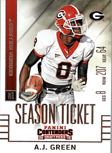 2015 Contenders Draft Picks Football Card #1 A.J. Green MINT (Georgia Football Tickets compare prices)
