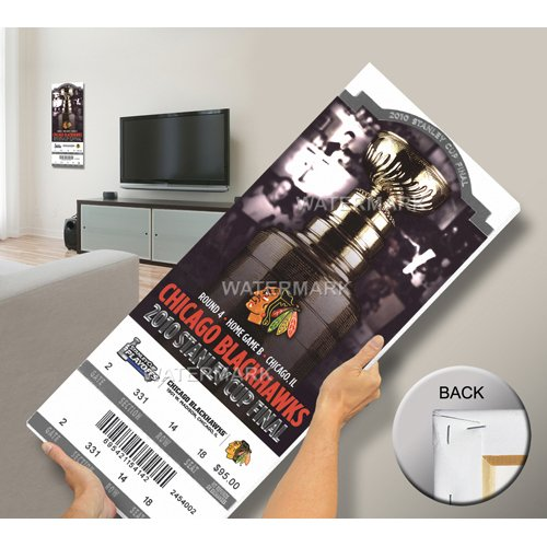 2010 Stanley Cup Mega Ticket - Chicago Blackhawks-By BlueTECH
