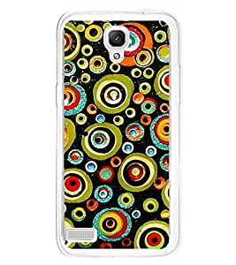 Colourful Circular Pattern 2D Hard Polycarbonate Designer Back Case Cover for Xiaomi Redmi Note :: Xiaomi Redmi Note 4G